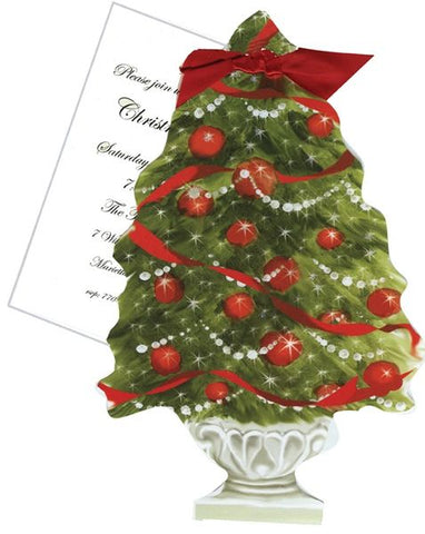 Christmas Tree w/ Lights Personalized Holiday Card/ Invitation (Set of 50)