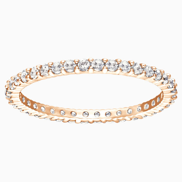 Swarovski Vittore Ring; White; Rose-Gold Tone Plated Dalmazio Design