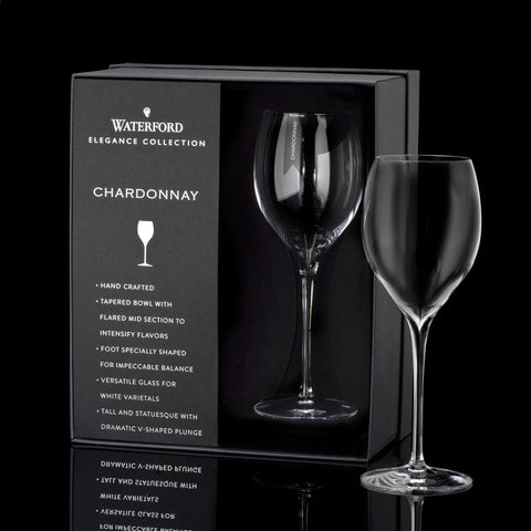 Waterford Elegance Chardonnay Wine Glass, Pair Dalmazio Design