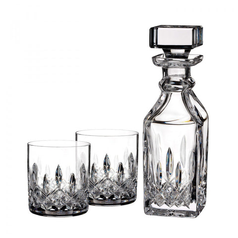 Waterford Lismore Connoisseur 5oz Tumbler, Pair & 15.5oz Square Decanter Dalmazio Design