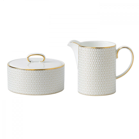 Wedgwood Arris Cream & Sugar Set Dalmazio Design