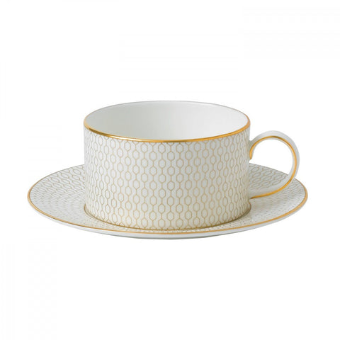 Wedgwood Arris Teacup & Saucer Dalmazio Design