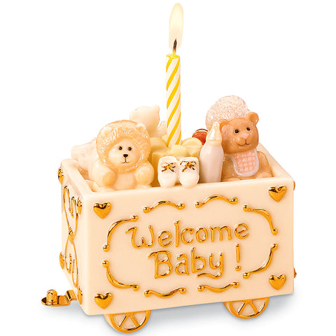 Lenox Welcome Baby Train Figurine - LAST IN STOCK Dalmazio Design