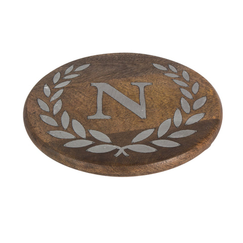 GG Collection Trivet W/Letter N Dalmazio Design