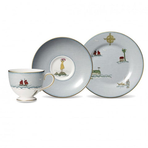 "Sailor's Farewell 3-Piece Set (Teacup, Saucer & Plate 8"")"