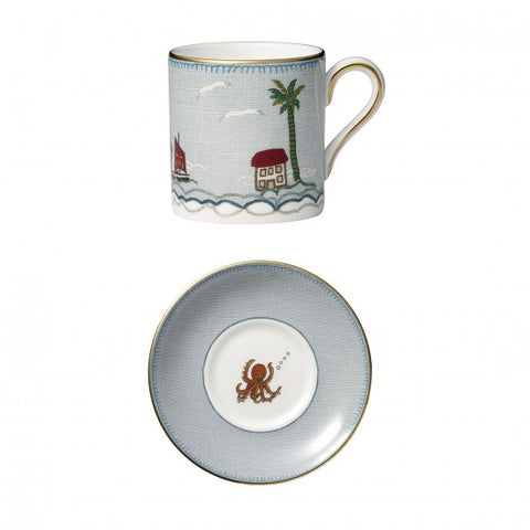 Sailor's Farewell Espresso Cup & Saucer Set