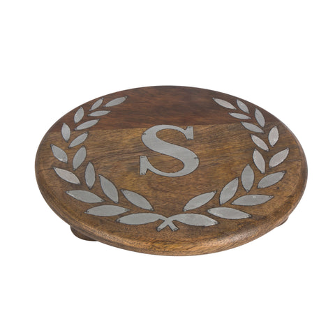 GG Collection Trivet W/Letter S Dalmazio Design