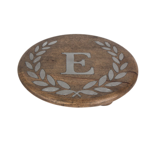 GG Collection Trivet W/Letter E Dalmazio Design