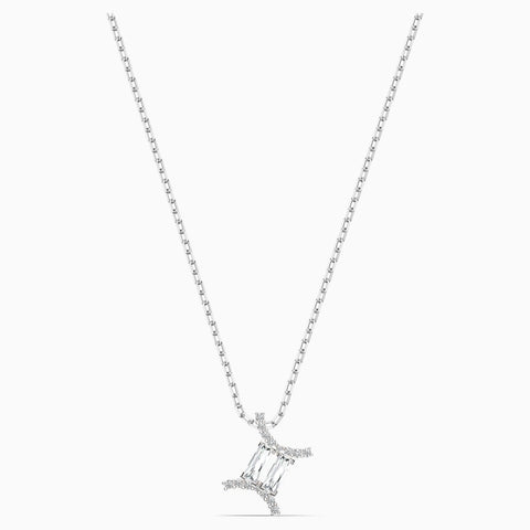 Dalmazio Design - Swarovski Zodiac Ii Pendant, Gemini, White, Mixed Metal Finish