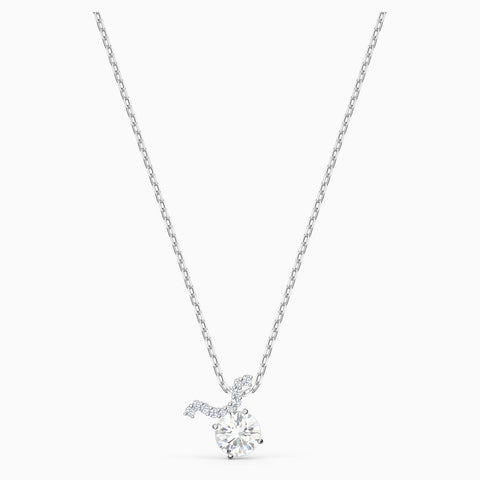 Dalmazio Design - Swarovski Zodiac Ii Pendant, Taurus, White, Mixed Metal Finish