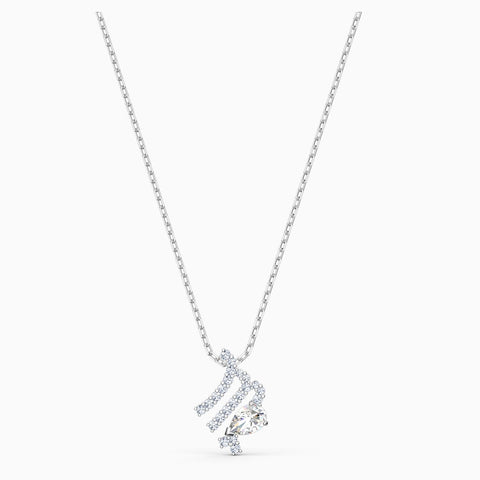 Dalmazio Design - Swarovski Zodiac Ii Pendant, Virgo, White, Mixed Metal Finish