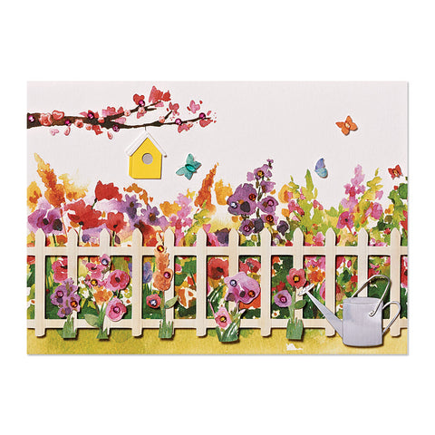 Gardening Scene Birthday Card