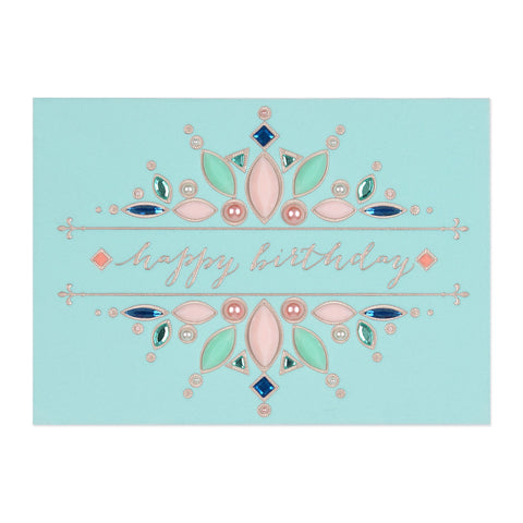 Pastels and Pearls Birthday Card