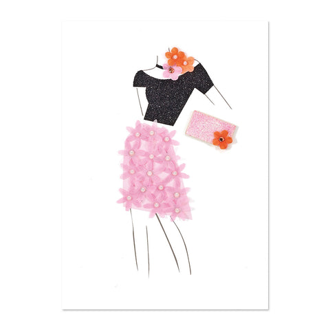 Floral Outfit Birthday Card
