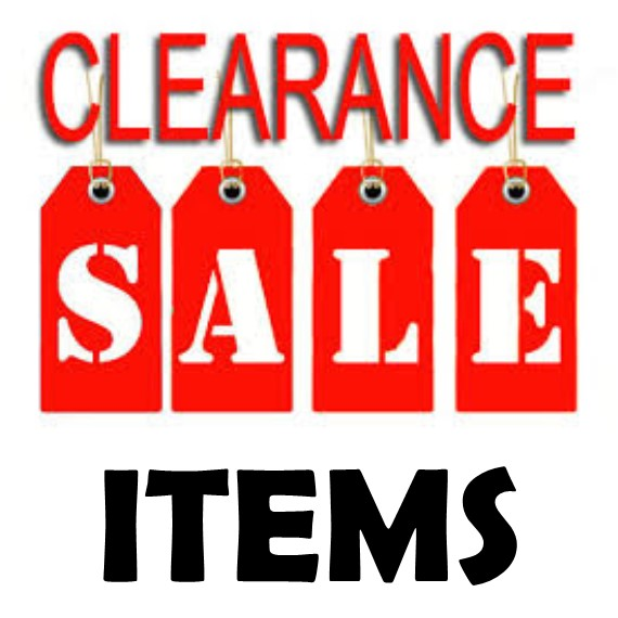 SALE & CLOSEOUT ITEMS!
