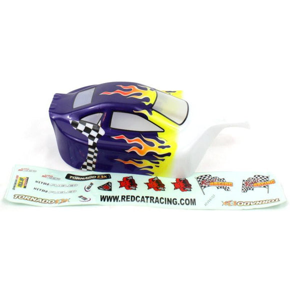 05027p 1/10 Buggy Body Purple Flame