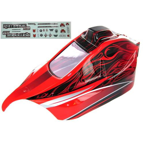 07192-R Rampage XB Body, Red
