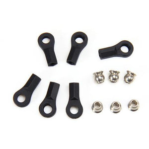 115027BK Ball End & 5.8mm Single Flanged Steel Ball (6) Black