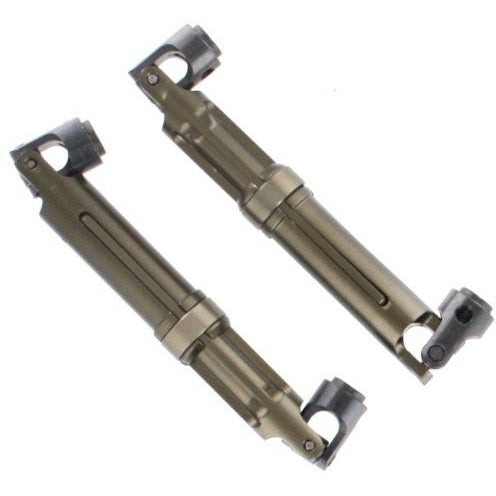 180011 Machined Aluminum Center Drive Shaft (2pcs)(Gunmetal)