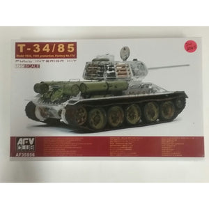 1/35th scale. T-34/85 Model 1944, 1945 production, factory no.174 from AFV Club - Swasey's Hardware & Hobbies