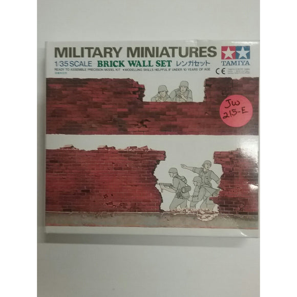 1/35th scale. Military Miniatures - Brick Wall from Tamiya - Swasey's Hardware & Hobbies