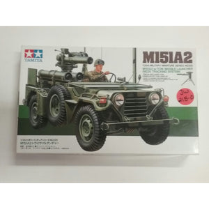 1/35th scale. M151A2 W/Tow Missle Launcher (M220 Tracking System)  *tripod included for dismounted tow display from Tamiya-Military Miniatures Series no.125 - Swasey's Hardware & Hobbies