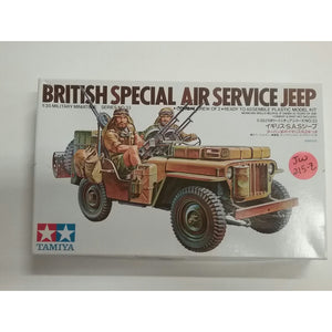1/35th scale. British Air Service Jeep W/Crew Of 2 from Tamiya-Military Miniatures Series no.33 - Swasey's Hardware & Hobbies