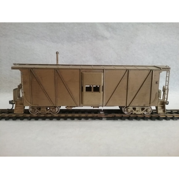 HO Scale Overland Brass Great Northern Bay Window Caboose