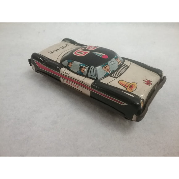 Vintage 1960's Tin Friction Police Car Toy