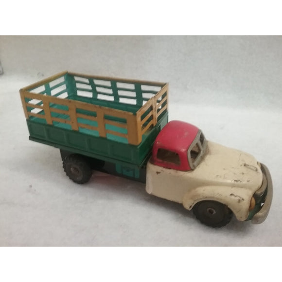 Vintage Tin Friction Delivery Truck Toy