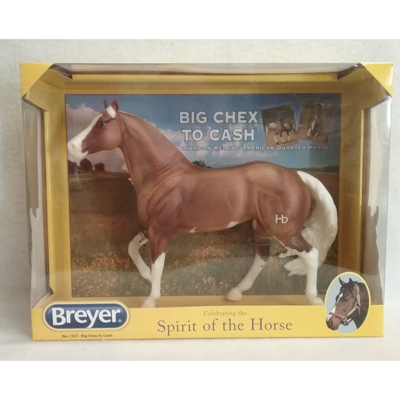1/9 Scale Breyer Traditional Series 1357 Retired  Big Chex To Cash