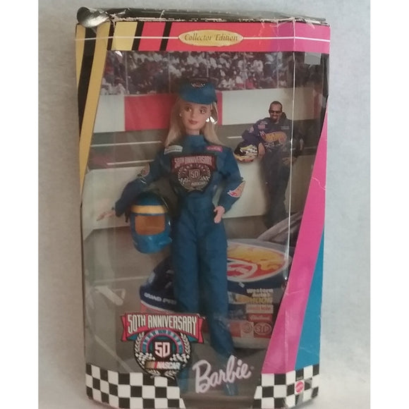 Mattel Barbie Nascar 50th Anniversary Collector Doll