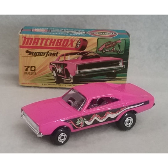 Lesney Matchbox Superfast Series  No.70 1970 Dodge Dragster