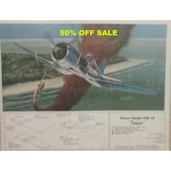 50% OFF SALE !!!-Jemco Chance-Vought F4U-1A Corsair RC Airplane Kit