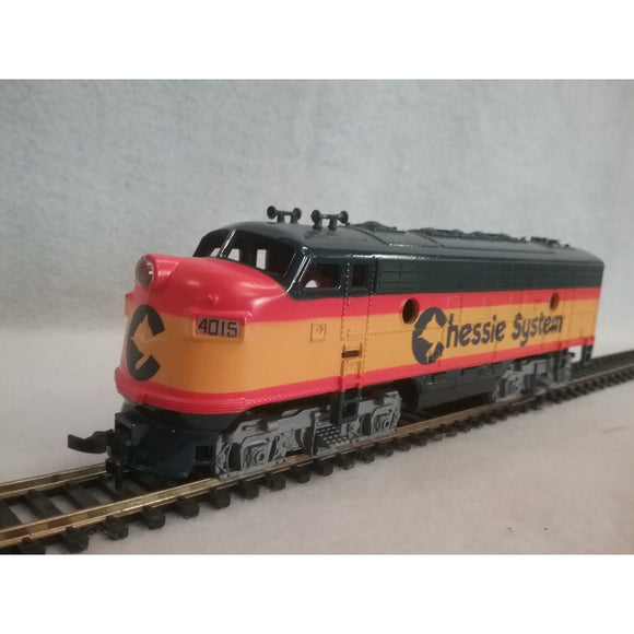 HO Scale Tyco Chessie System F7A Locomotive #4015