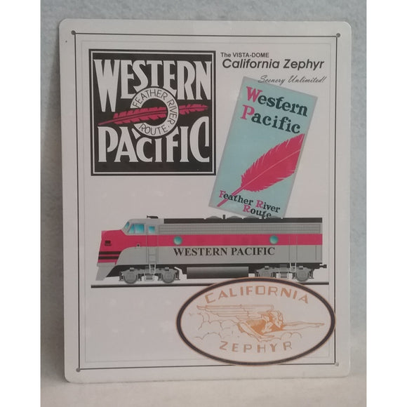 California Zephyr Western Pacific Metal Sign