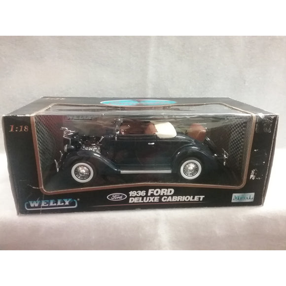 1/18 Scale Welly No.9867W 1936 Ford Deluxe Cabriolet