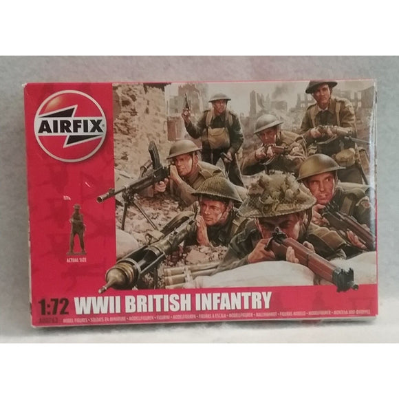 1/72 Scale Airfix No.A00763  WWII British Infantry