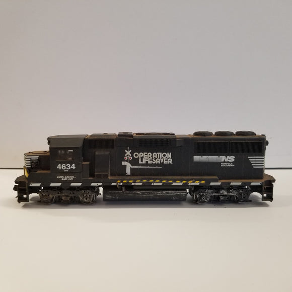 HO Scale Athearn Norfolk Southern GP-40 Operation Lifesaver Locomotive No.4634