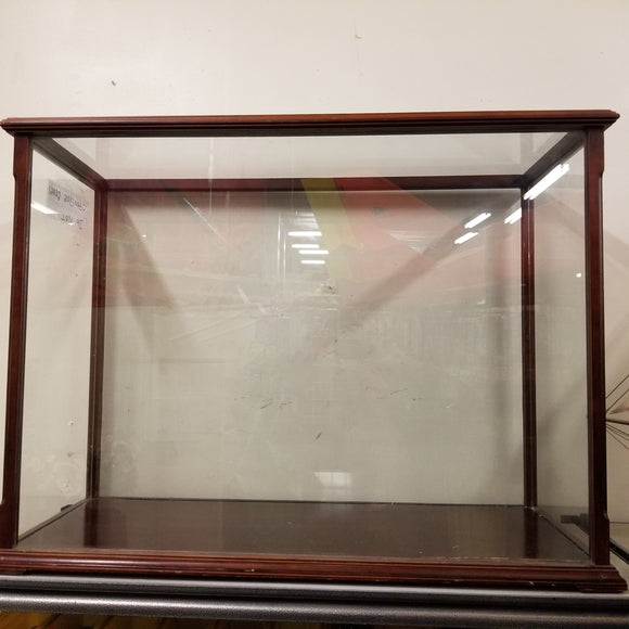 Wood Glass Ship Display Case