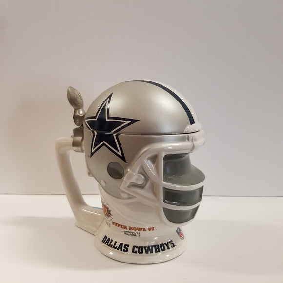 Longton Crown NFLDallas Cowboys Helmet Stein