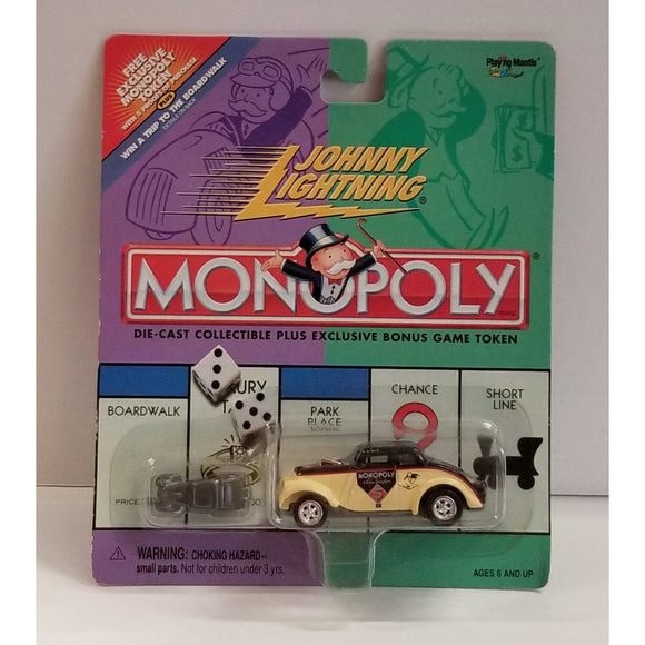 Jonny Lightning Monopoly 1933 Willys With Bonus Monopoly Car Playing Piece