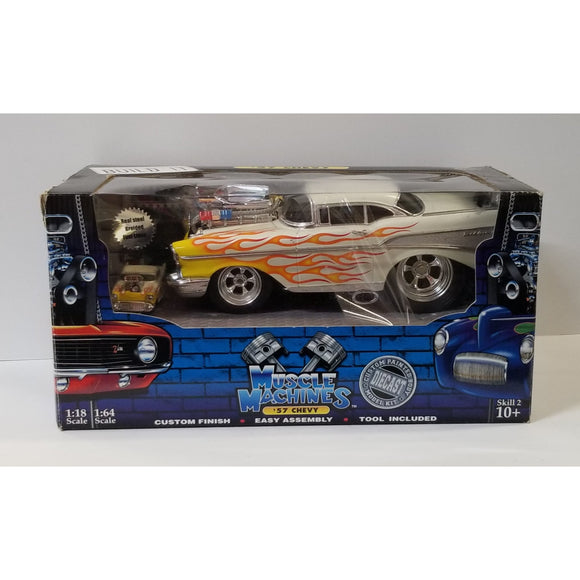 1/18 Scale & 1/64 Scale Muscle Machines Die-Cast '57 Chevy