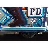 Vintage 1960s Tin Litho Toy Friction Powered Police Motorcycle