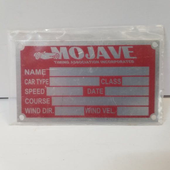 Mojave Timing Association Incorporated Timing Tag