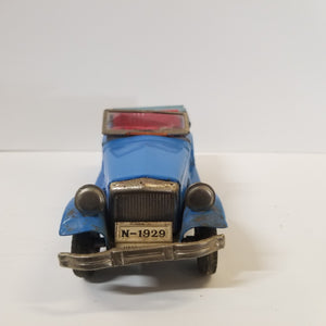 1/18 Scale Cragstan Vintage 1950s Tin Friction Toy Touring Car