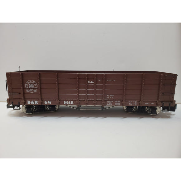 G Scale LGB 4073 D&RGW Scenic Route 1646 High Side Gondola-E
