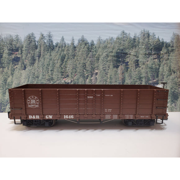 G Scale LGB 4073 D&RGW Scenic Route 1646 High Side Gondola-G