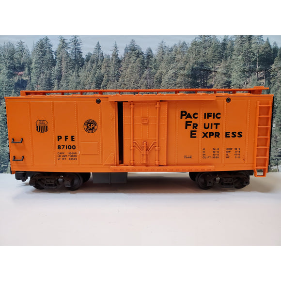 G Scale Lionel Southern Pacific Fruit Express PFE 87100 Refrigerator Car