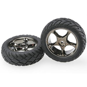 2479A Black Chrome Wheels With Anaconda Tires Front-(2)